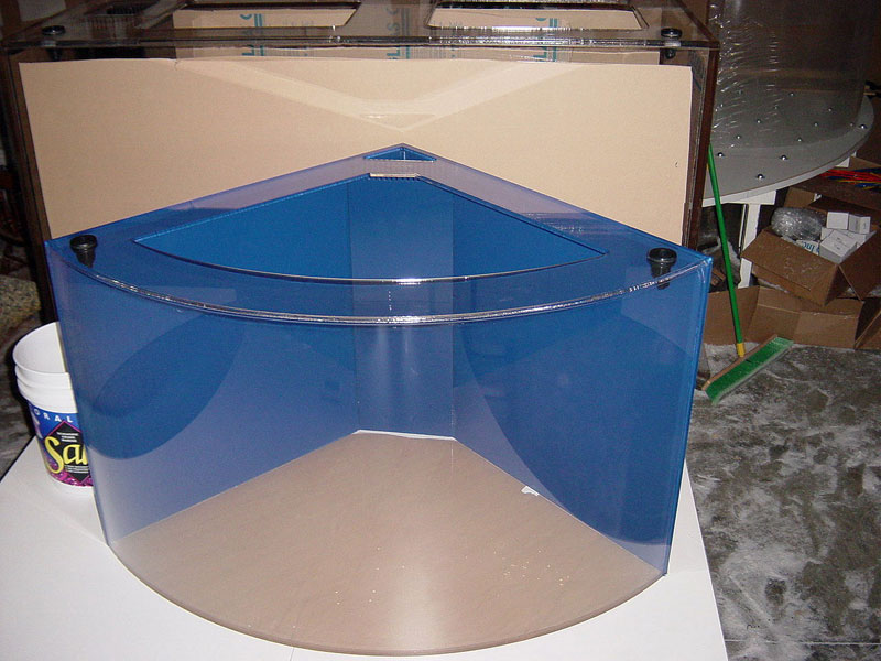 Acrylic Fish Tanks Photo Gallery - Aquarium Pictures during assembly