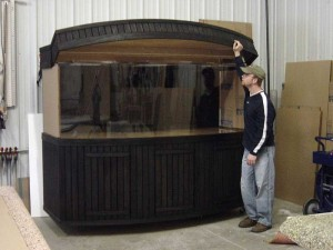 Pine Cabinetry with Bowfront