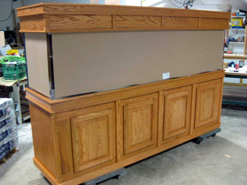 Deluxe Oak Cabinetry for Aquarium Stand