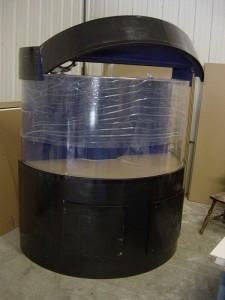 Half Cylinder Cabinetry Aquarium