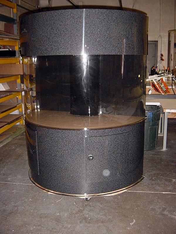 Half Cylinder Acrylic Cabinetry Aquarium