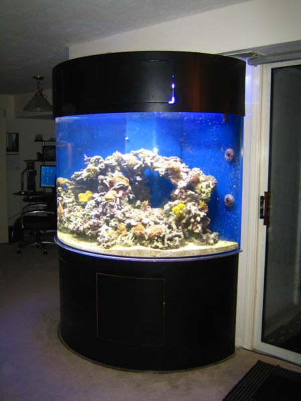 Half Cylinder Acrylic Cabinetry