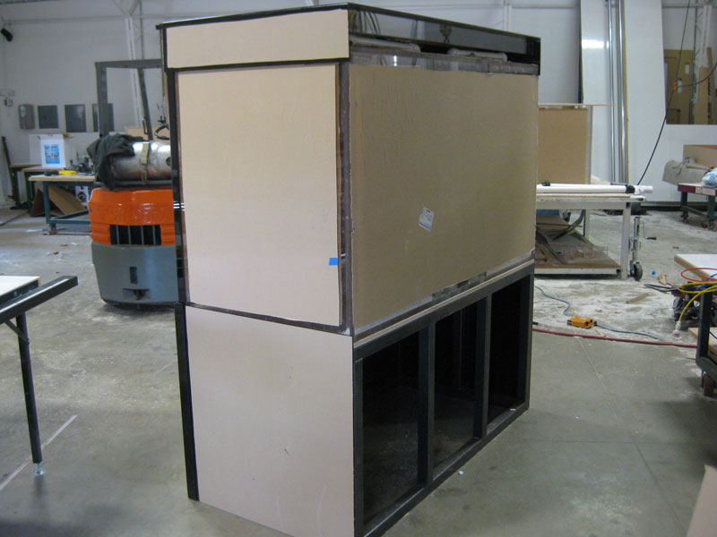 Back of Black Acrylic Cabinetry