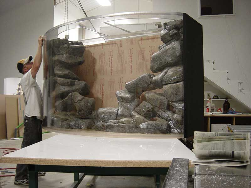 Artificial Boulder Ledge Aquarium Insert