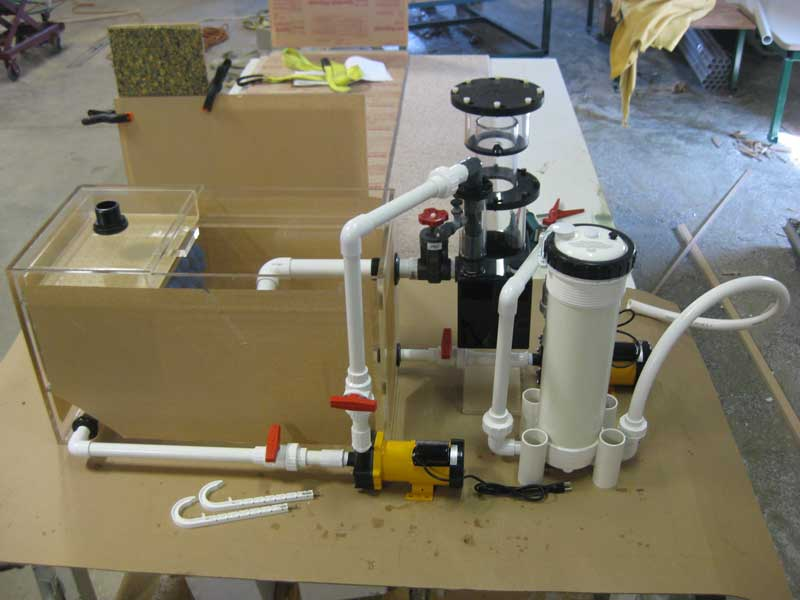 Pre plumbed filtration systems 9 midwest custom aquarium for Fish filter system