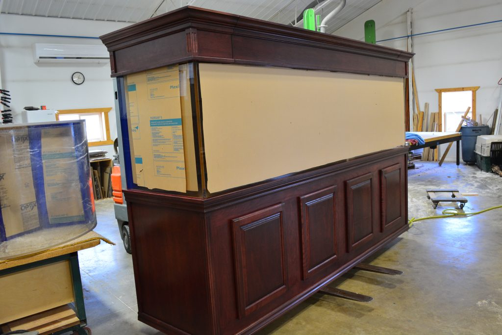 aquarium wood cabinetry