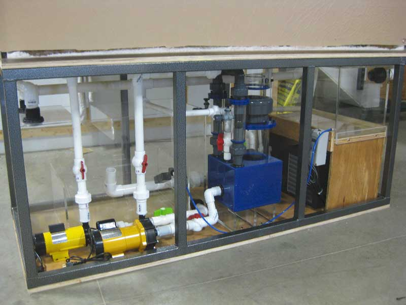 Pre plumbed filtration systems for aquariums midwest for Fish filter system