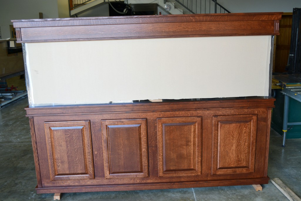 Deluxe quartersawn oak cabinetry set