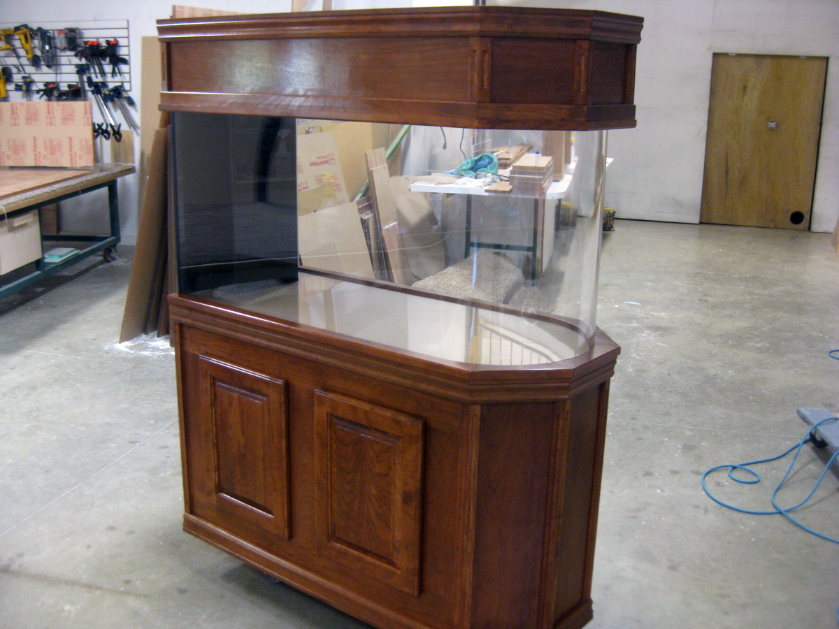 Fish tank wood - Wood Cabinet Custom Aquarium