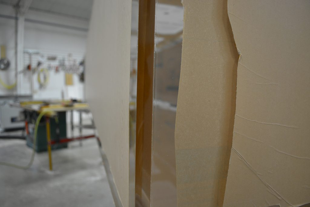 Polished Vertical Seams