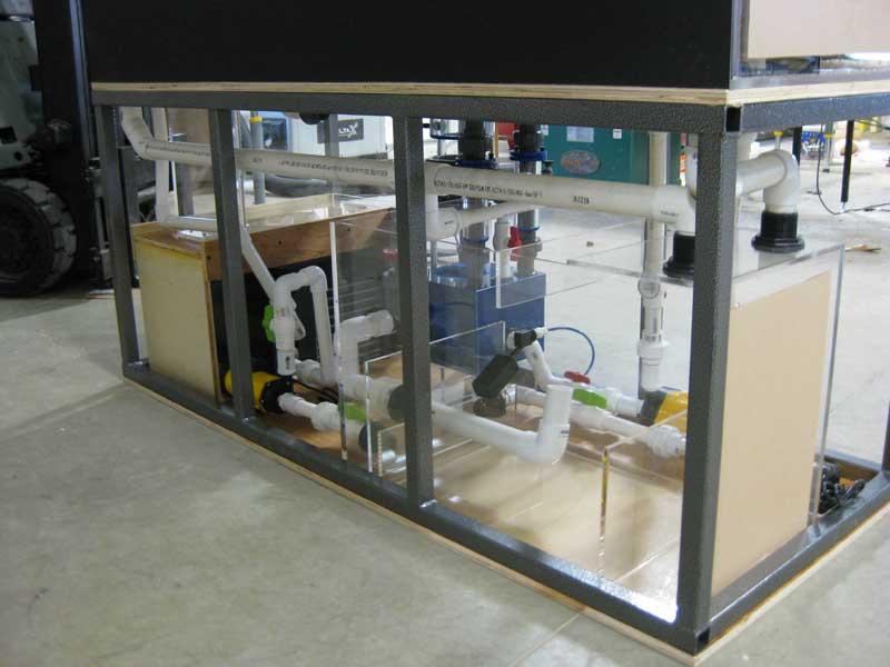 Filtration in steel frame